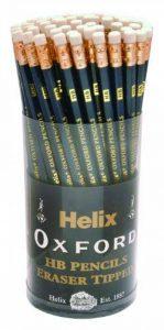 Helix Oxford P60272 Lot de 72 crayons à papier HB avec pointe gomme de la marque Helix image 0 produit