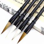 HorBous 10 PCS Set de calligraphie chinoise Inkstone + Brosse d'écriture et de peinture + Bloc d'encre + Sceau + Inkpad + Rack pour stylo + Water Bowl (de base) de la marque HorBous image 1 produit