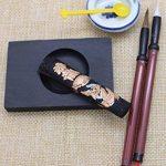 HorBous 7 PCS calligraphie chinoise Inkstone + bol à eau + bâton d'encre + 2 stylos à brosse + encrier + boîte à cadeaux Set pour Enfant Enfant Débutant de la marque HorBous image 2 produit