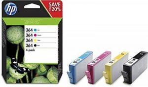 HP 364 Pack de 4 cartouches d'encre Noir/Cyan/Magenta/Jaune authentiques (N9J73AE) de la marque HP image 0 produit