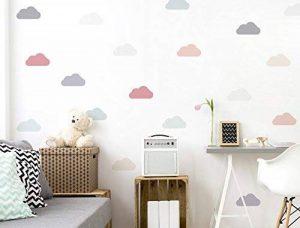 I-love-Wandtattoo CE Sticker mural de 10637Chambre Sticker mural Kit nuages dans des tons pastels tendres 18pièces ciel nuageux à coller Sticker mural mural décoratif de la marque I-love-Wandtattoo image 0 produit