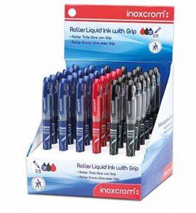 Inoxcrom Office Free Ink 0.5mm Sierra Stylo Roller encre liquide Pointe fine - Noir/Bleu/Rouge (Lot de 36) de la marque Inoxcrom image 0 produit