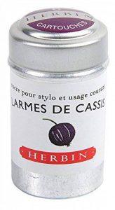 J Herbin Lot de 6 cartouches d'encre pour styloLarmes de cassis de la marque J Hebrin image 0 produit