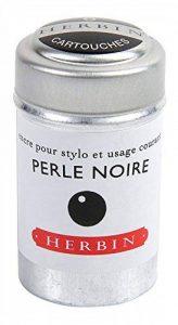 J Herbin Lot de 6 cartouches d'encre pour stylo –noir de la marque J Hebrin image 0 produit