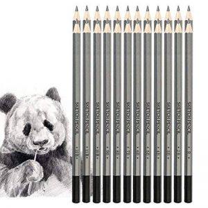 Jansroad Crayon de Croquis Crayons de Dessin , Kit de 18 Crayons de Graphite 9H au 14B pour Adultes et Enfants Débutants Artiste de la marque Jansroad image 0 produit