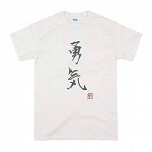 Japonais-Shirt Yuki Courage/T-Shirt Motif calligraphie japonaise-Couleur : Ivoire de la marque Strand Clothing image 0 produit