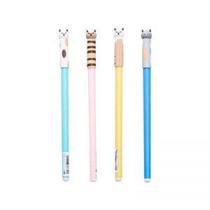 Jia HU Chat Recharge pour stylo roller stylos à encre gel d'encre noire Stylo à bille de 0,5mm pour filles Cadeau Green de la marque Jia Hu image 0 produit