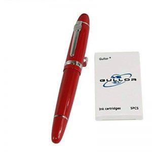Jinhao 159 Fountain Pen avec pochette de original de stylo et 5 couleurs Gullor cartouche - Rouge de la marque Jinhao image 0 produit