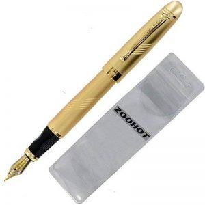 Jinhao 450 pur or avec le decoupage des lignes fontaine stylo plume moyenne 18kgp plume de la marque Gullor image 0 produit