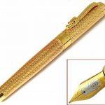 Jinhao Golden Dragon Rouge Cristal Yeux Plume stylo plume Avec Bouton en style Convertisseur d'encre de la marque erofa image 1 produit