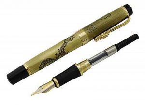 Jinhao stylo plume avec encre recharge convertisseur, Nib moyen, Descendants du Dragon série cadeau stylo (Bronze) de la marque erofa image 0 produit