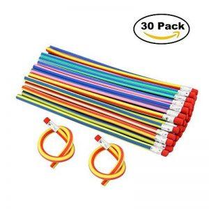 JTDEAL Crayon à Papier Flexible, 30Pcs Crayons de Couleur Pliable Souples 18cm avec Gomme pour Enfant Cadeau École de la marque JTDEAL image 0 produit