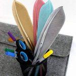 Katara 1799 - 4 Stylos à Gel Forme de Plume D'Encre Noire - Stylo à Bille Crayons Rétro - Dessin, Croquis, Scrapbooking de la marque Katara image 1 produit