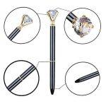 Keku 8pcs Grande Cristal Diamant Stylo à bille en métal Noir Sac et 8recharges Bille pour femme, collègues, enfants, filles de la marque KEKU image 3 produit