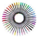 Kingcoo 48paquets de stylos à encre gel de couleur pour coloriage Adulte de dessin et d'écriture (12métallique Paillettes + 12+ 12+ 12Waterchalk Fluo), enfants Cadeau de Noël de la marque KINGCOO image 1 produit