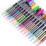 Kingcoo 48paquets de stylos à encre gel de couleur pour coloriage Adulte de dessin et d'écriture (12métallique Paillettes + 12+ 12+ 12Waterchalk Fluo), enfants Cadeau de Noël de la marque KINGCOO image 2 produit