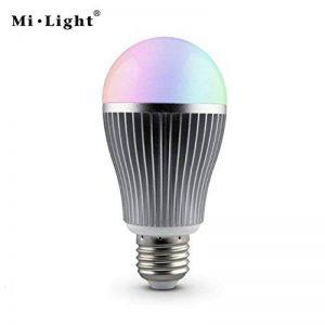 kingled–Ampoule LED Wi-Fi Multi-couleur RGBW avec culot e27, 9W 850lm équivalent à 80W halogène, Coloration de température RGB + Blanc froid 6000K, angle d'éclairage 180°, Taille 59.5x 122.5mm, série milight, Cod. 2214 de la marque Mi-Light image 0 produit