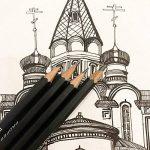 Kinso 14croquis Crayons Art Crayons croquis de voyage d'artiste Dessin kit 12B, 10B, 8b, 7B, 6B, 5B, 4B, 3B, 2B, B, HB, 2H, 4h, 6h–Precision Crayons graphite pour artistes Dessin Accessoires en ligne de la marque KINSO image 3 produit