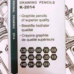 Kinso 14croquis Crayons Art Crayons croquis de voyage d'artiste Dessin kit 12B, 10B, 8b, 7B, 6B, 5B, 4B, 3B, 2B, B, HB, 2H, 4h, 6h–Precision Crayons graphite pour artistes Dessin Accessoires en ligne de la marque KINSO image 2 produit
