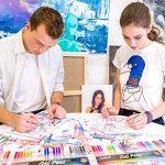 Kit de 100 stylos à gel pour art, dessin et livres de coloriage adultes - Obtenez des couleurs RARE dans ce kit de stylos de qualité Premium de la marque Colore image 2 produit