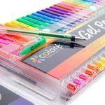 Kit de 100 stylos à gel pour art, dessin et livres de coloriage adultes - Obtenez des couleurs RARE dans ce kit de stylos de qualité Premium de la marque Colore image 1 produit