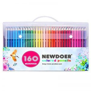 Kit de 160 crayons de couleur magnifiques Newdoer - Excellents pour les artistes, les bandes dessinées, les illustration, les architectes d'intérieur, les étudiants, les passionnés de coloriage enfants et adultes, superbe cadeau de Noël de la marque Newdo image 0 produit