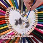 KKmoon 48Couleur Premium Pré-affûtée solubles à l'eau Ensemble de crayons de couleur avec brosse en métal Coque pour enfants adultes Artiste Art Dessin esquisse d'écriture illustrations livres de coloriage de la marque KKmoon image 1 produit