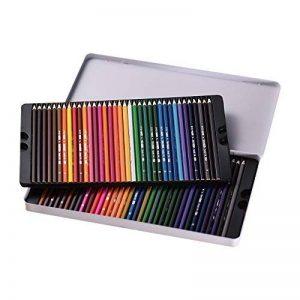 KKmoon 72Couleur Premium Pré-affûtée Ensemble de crayons de couleur à base d'huile avec boîtier en métal pour enfants adultes Artiste Art Dessin esquisse d'écriture illustrations livre de coloriage de la marque KKmoon image 0 produit