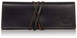 KLONDIKE 1896 Trousse d'ecole en cuir véritable 'Avery', trousse en véritable cuir pour femmes et hommes, brun foncé de la marque KLONDIKE 1896 image 0 produit