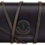 KLONDIKE 1896 Trousse d'ecole en cuir véritable 'Avery', trousse en véritable cuir pour femmes et hommes, brun foncé de la marque KLONDIKE 1896 image 1 produit