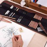 KOBWA Professionnel Croquis Set Multifonctionnel Bois Crayons avec Roll Up Rideau Sac, Hot 8 In 1 Set de Crayons à Dessin Outil Pour Artiste avec Bonne Qualité de la marque KOBWA image 4 produit