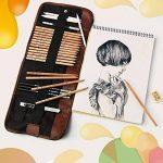 KOBWA Professionnel Croquis Set Multifonctionnel Bois Crayons avec Roll Up Rideau Sac, Hot 8 In 1 Set de Crayons à Dessin Outil Pour Artiste avec Bonne Qualité de la marque KOBWA image 3 produit