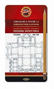 Koh-I-Noor 12crayons technic graphite professionnel–Niveaux rigide 1502/I de la marque Koh-I-Noor image 0 produit