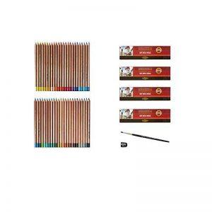 KOH - I - NOOR Lot de 48 crayons pastel Gioconda avec taille-crayon et une brosse pastel de la marque KOH-I-NOOR + repino image 0 produit