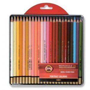 Koh-I-Noor Mondeluz Portrait Crayons de Couleur Aquarelle (Set de 24) de la marque Koh-I-Noor image 0 produit