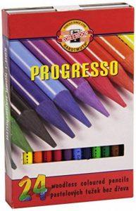 Koh-I-Noor Progresso Set de Crayons de Couleur sans bois (Set de 24) de la marque Koh-I-Noor image 0 produit
