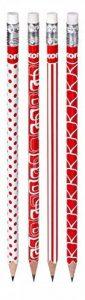 Kores Grafitos Lot de 12 Crayons papier HB avec embout Gommes Rouge/Blanc de la marque Kores image 0 produit