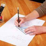 Kores Grafitos Lot de 4 Crayons papier HB triangulaire avec embout Gommes Blanc de la marque Kores image 2 produit
