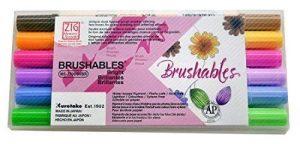 Kuretake Zig Brushable à double pointe (deux tons) Brosse Lot de stylos coloré de la marque Kuretake Zig image 0 produit