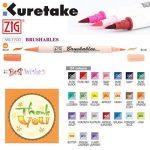 Kuretake Zig Brushable à double pointe (deux tons) Brosse Lot de stylos coloré de la marque Kuretake Zig image 1 produit