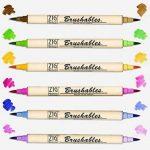 Kuretake Zig Brushable à double pointe (deux tons) Brosse Lot de stylos coloré de la marque Kuretake Zig image 3 produit