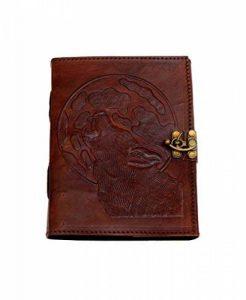 La Nuit du loup * Vintage Journal intime en Cuir de Buffle NOUVEAU TYPE DE PAPIER de coton fait main en Inde de la marque ROOGU image 0 produit