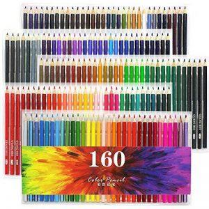Laconile 160 Crayons de couleur gras, couleurs vives, pré-taillés, lot de crayons de couleur pour livres de coloriage pour adultes, dessins artistiques, croquis, loisirs créatifs de la marque Laconile image 0 produit