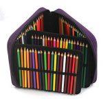 Laconile - Trousse à crayons en tissu Oxford grande capacité - 120compartiments à crayons - Avec poignée et fermeture Éclair 10.2*8.7*2.4Inch violet de la marque Laconile image 4 produit
