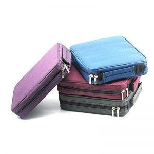 Laconile - Trousse à crayons en tissu Oxford grande capacité - 120compartiments à crayons - Avec poignée et fermeture Éclair 10.2*8.7*2.4Inch violet de la marque Laconile image 0 produit