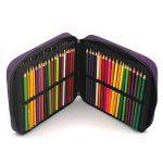Laconile - Trousse à crayons en tissu Oxford grande capacité - 120compartiments à crayons - Avec poignée et fermeture Éclair 10.2*8.7*2.4Inch violet de la marque Laconile image 3 produit