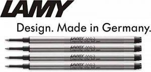 Lamy M 63Roller de recharge, Largeur de trait M, noir, Lot de 4 de la marque Lamy image 0 produit