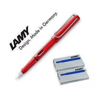 Lamy Safari rouge avec 10cartouches T10Stylo-plume 016M (Bleu) de la marque Lamy image 0 produit