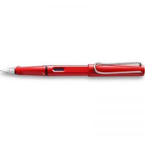 Lamy - Stylo Plume Safari Rouge Brillant, Plume Acier de Taille F, Livré en Ecrin Lamy. de la marque Lamy image 0 produit