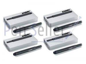 Lamy T10: Quatres Etuis de 5Cartouches d'encre, couleur: noir (20cartouches au total) de la marque Lamy image 0 produit